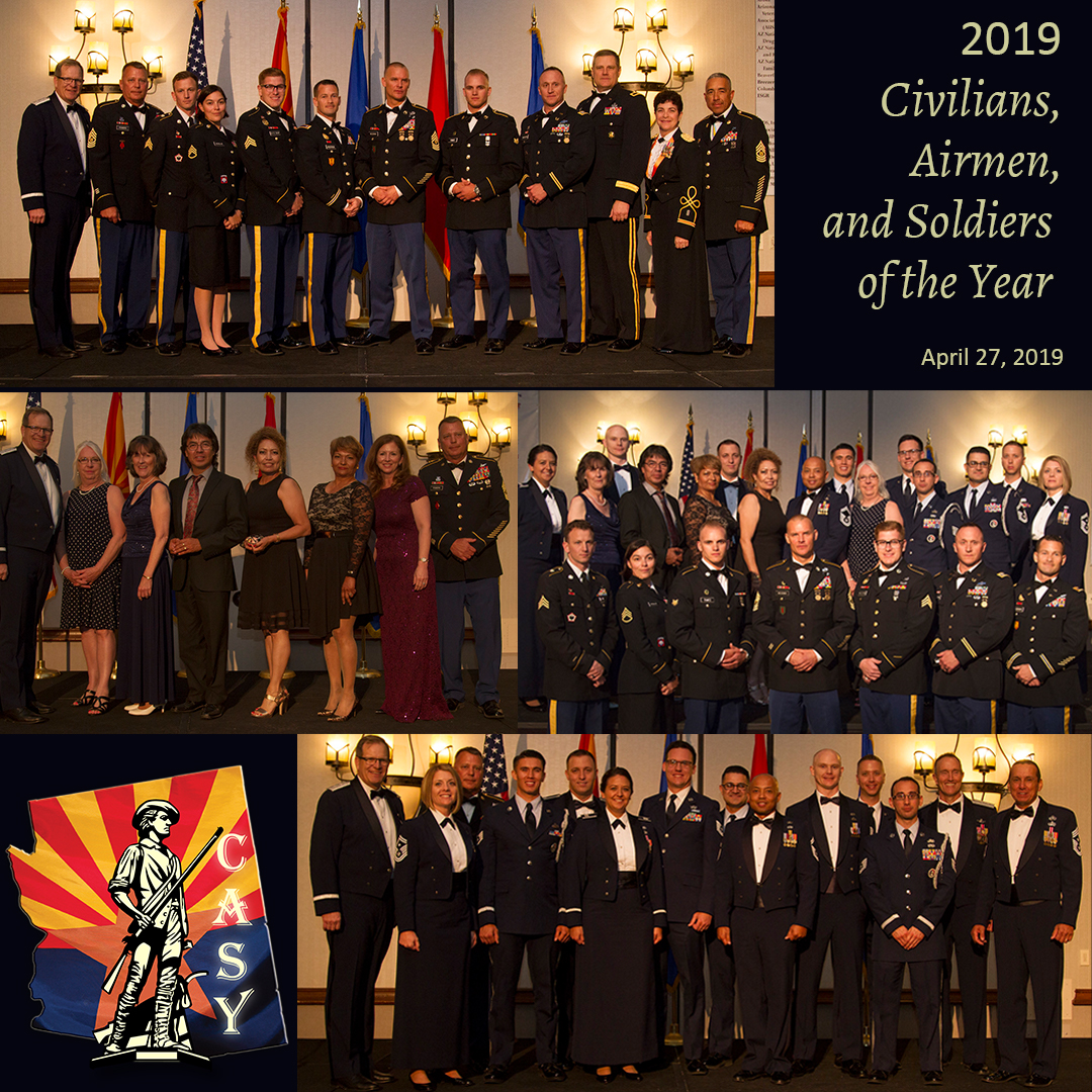 2019 Civilians, Airmen and Soldiers of the Year Winners