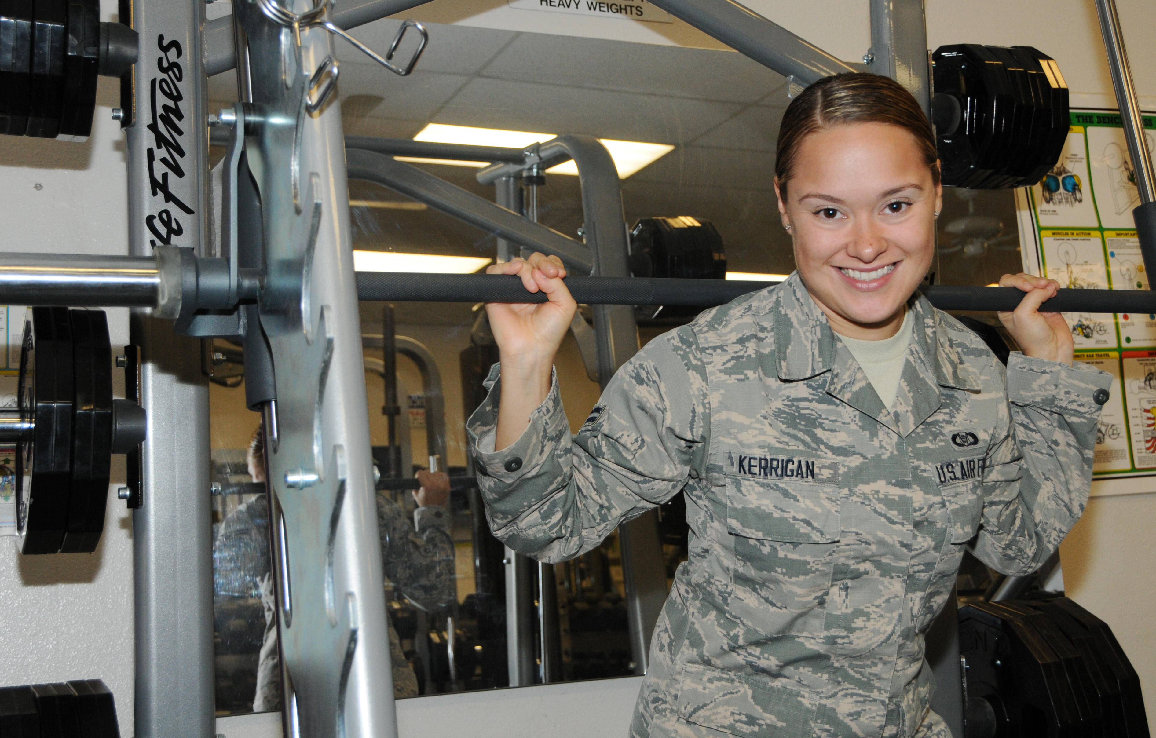 52366a8194e3f Airman's competitive spirit motivates her, fellow basic trainees ...