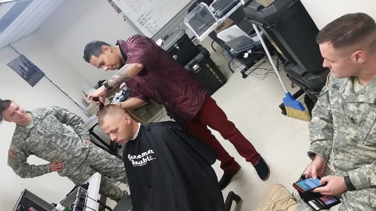 Barber cuts out time for Soldiers Department of