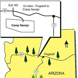 Map to Camp Navajo