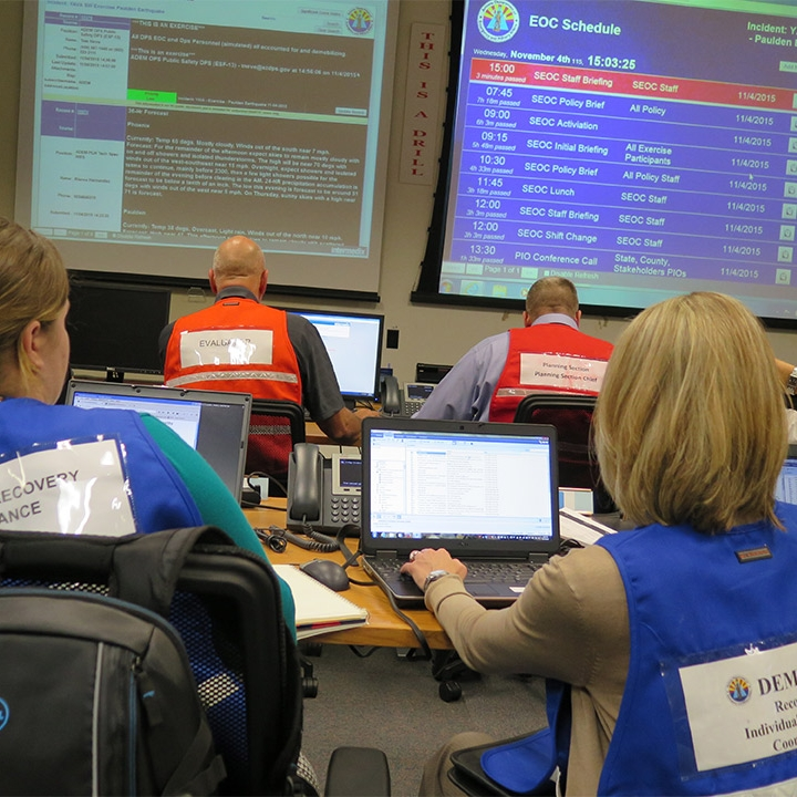 WebEOC Captured during an Exercise photo by DEMA