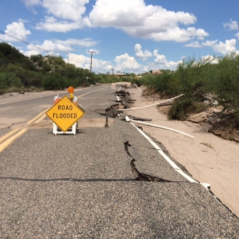 Photo of road damage