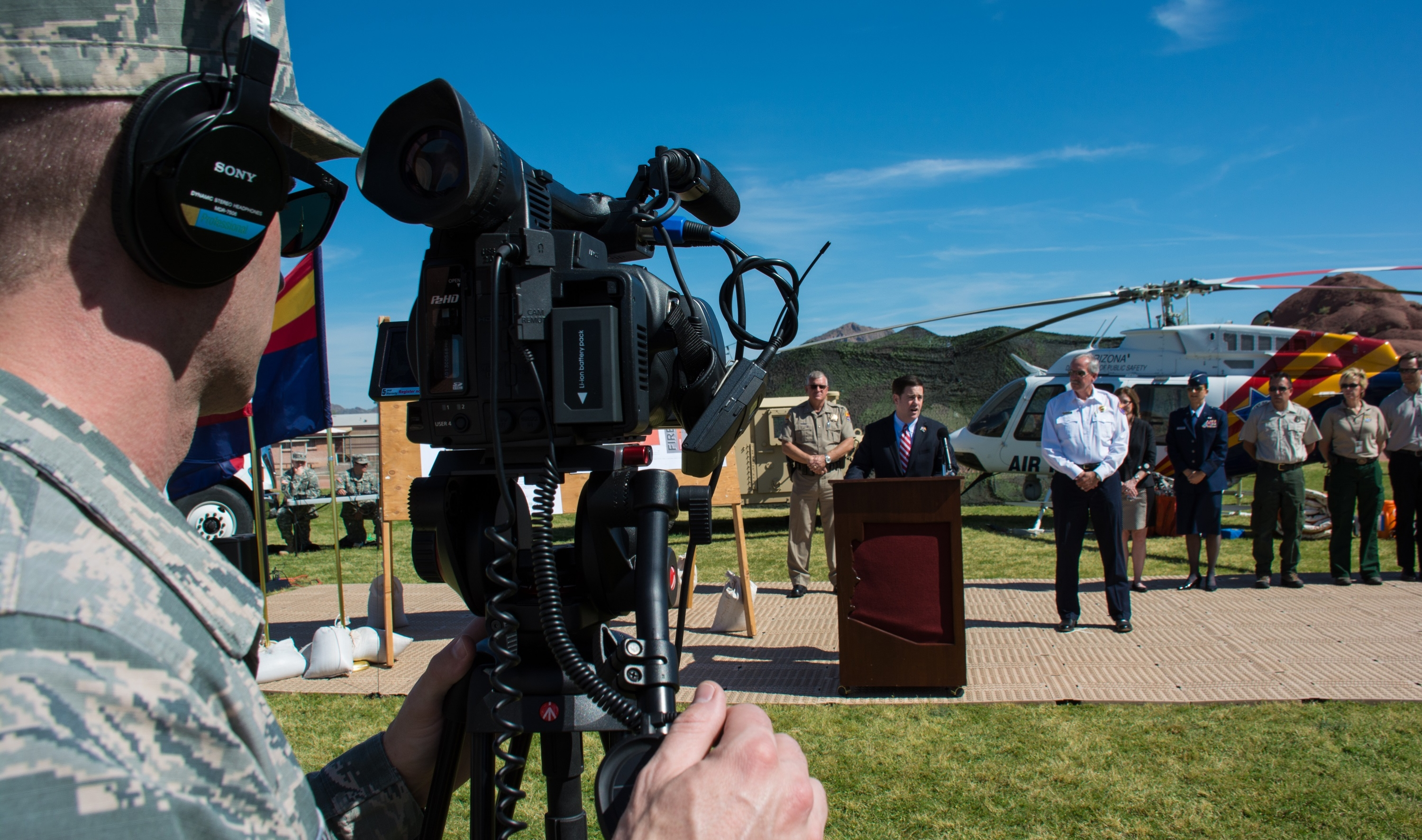 Airman shoots video of governor doug ducey