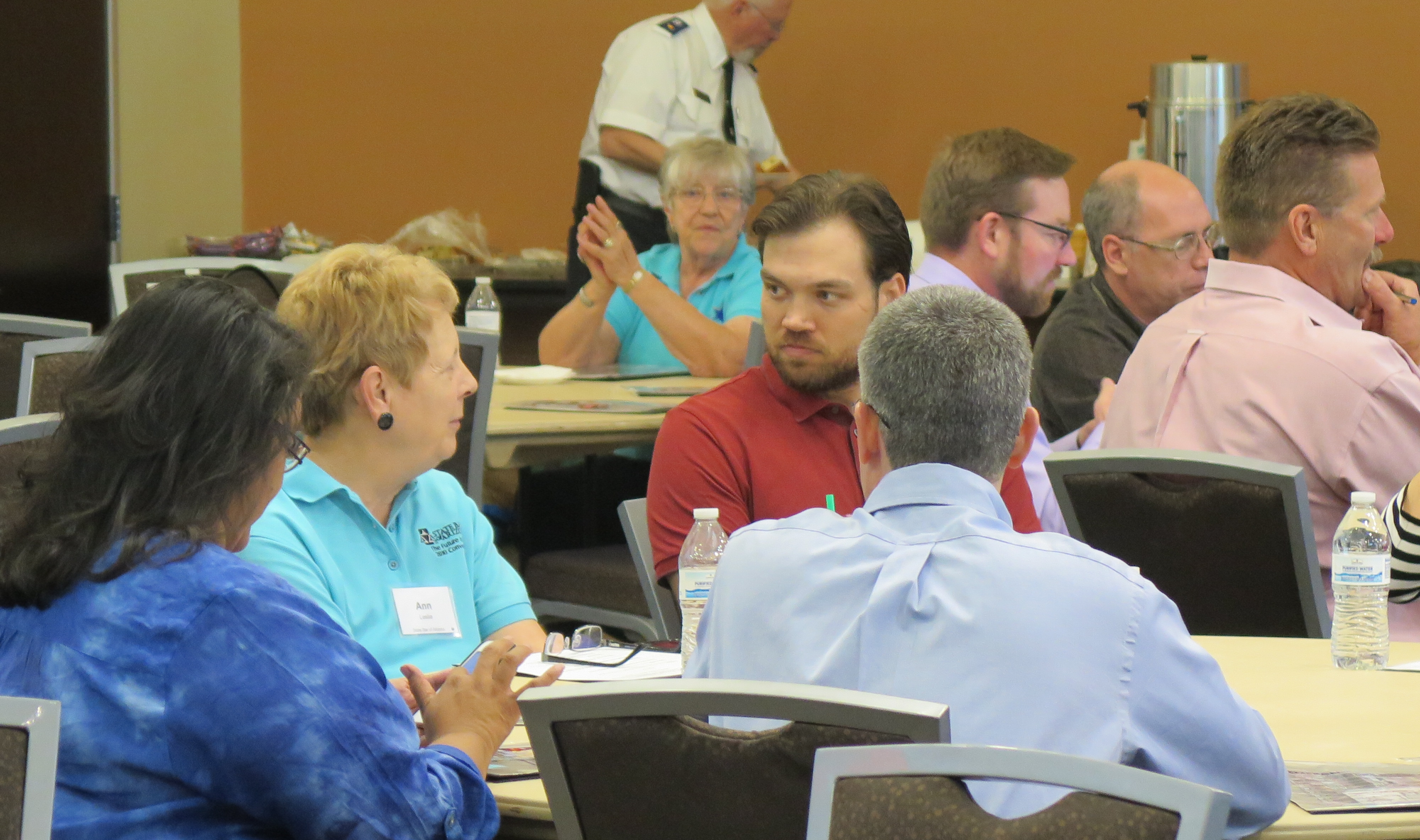 Participants discussing at the Whole Community Resilience Summit
