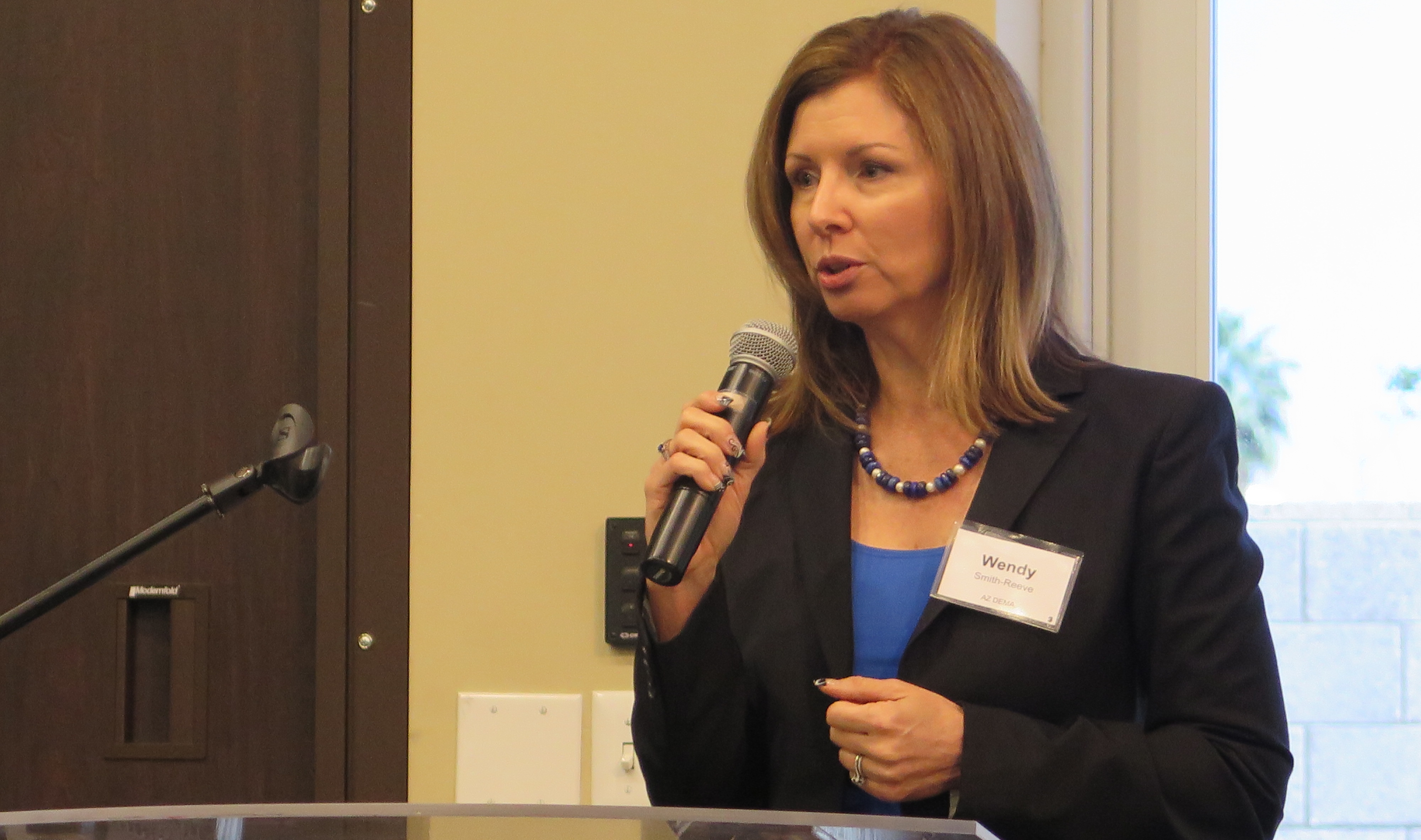 DEMA Director Wendy Smith-Reeve speaks at Statewide Whole Community Summit