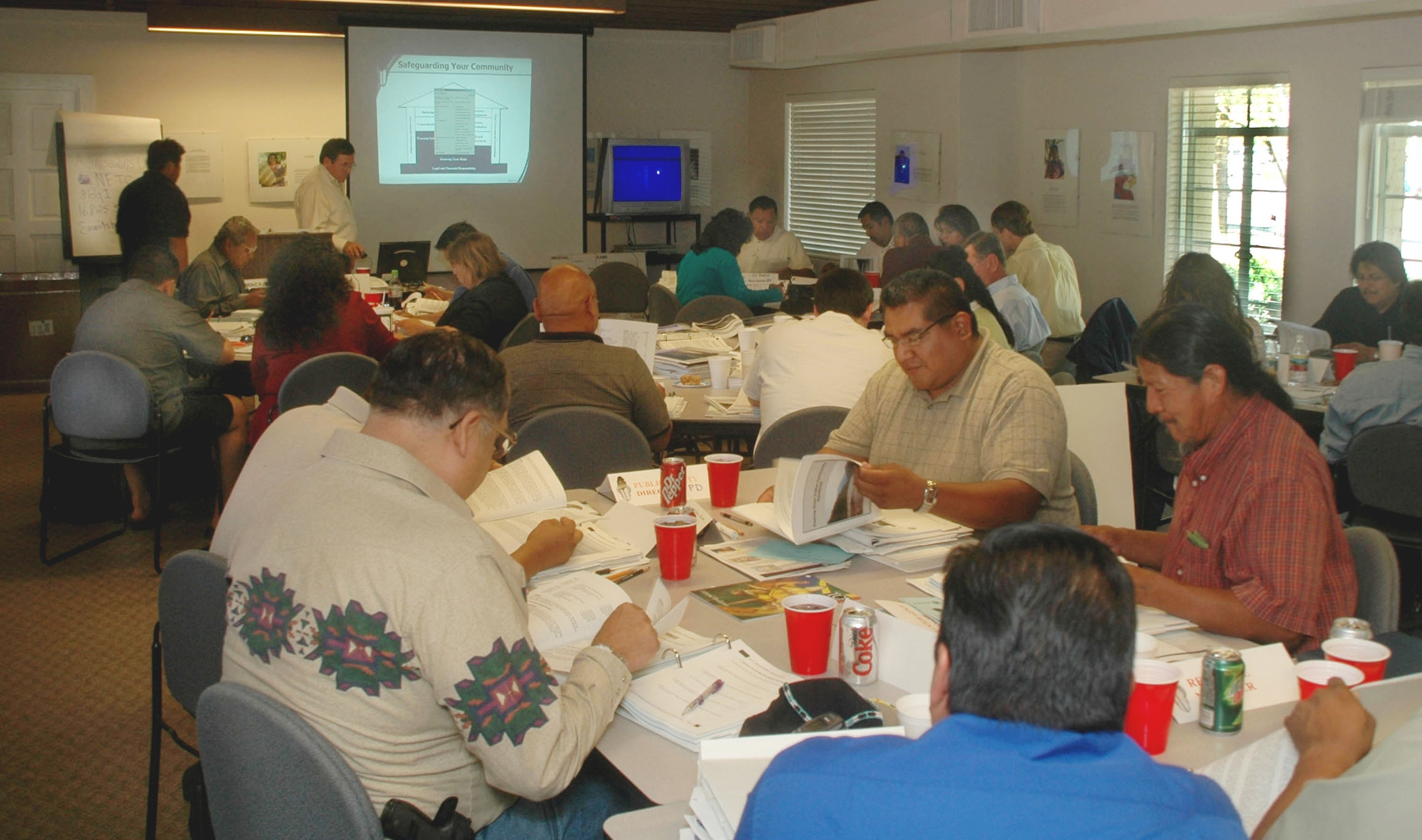 Tribal Members participating in an Emergency Management course