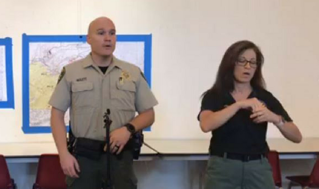ASL interpreters provide translation support for various public meetings during wildfire season