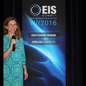 Wendy Smith-Reeve addresses the the Electric Infrastructure Security Council's World Summit on Infrastructure Security