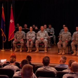 The Arizona Army National Guard hosted a send-off ceremony for members of Detachment 1, Alpha Company, 422nd Expeditionary Signal Battalion, here Jan. 22.