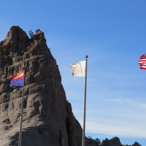 US Navajo Nation and Arizona Flag