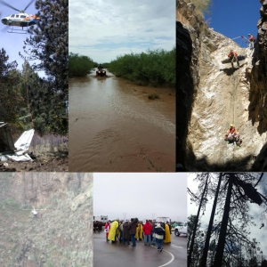 Images of search and rescue missions and training events
