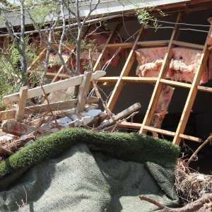 A home destroyed by a flash flood near Black Canyon City in Sept. 2014